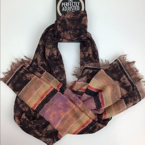 D&Y The Perfectly Adjusted Scarf -Brown Women's